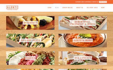 Screenshot of Menu Page alonti.com - Menu | Alonti Catering Kitchen - captured Oct. 8, 2017