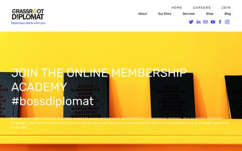 Screenshot of Signup Page grassrootdiplomat.org - Join — Grassroot Diplomat - captured July 23, 2018