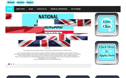 Screenshot of Home Page national-insurance-number.co.uk - National Insurance Number (NINO Online) – Apply Here - captured Dec. 5, 2016