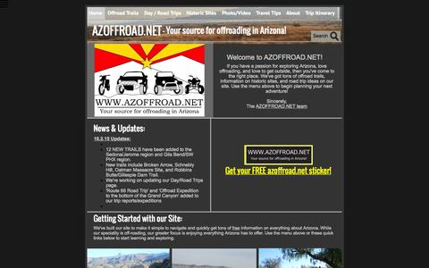 Screenshot of Home Page azoffroad.net - Home - AZOFFROAD.NET - Your source for offroading in AZ - captured Oct. 19, 2015