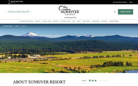 Screenshot of About Page destinationhotels.com - Sunriver Oregon Resorts | Sunriver Resort - About Us | Hotels in Oregon - captured June 28, 2017