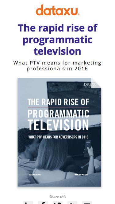 Rapid rise of programmatic television 2016
