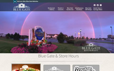 Screenshot of Hours Page riegsecker.com - Directions and Hours | Shipshewana, IN | Indiana Amish Country's Home for Outstanding Food, Entertainment, Shopping and Lodging - captured Oct. 22, 2017