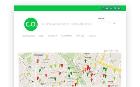 Screenshot of Home Page ceroceo2.com - Ceroceo2 - Soluciones innovadoras de eficiencia energética Ceroceo2 - captured May 11, 2017