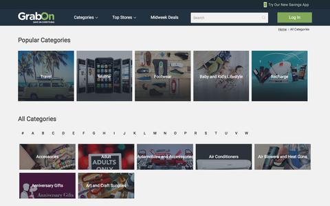 All Categories - GrabOn