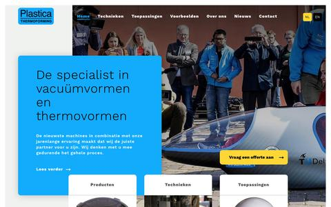 Screenshot of Home Page plastica-thermoforming.eu - Plastica Thermoforming Plastica Thermoforming - de Thermoforming Specialist - captured July 19, 2018