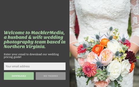 Screenshot of Pricing Page macklermedia.com - Portrait & Wedding Photography Pricing • MacklerMedia - captured May 27, 2017