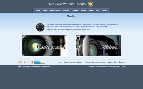 Screenshot of Press Page mcbryde.com - Lake Norman Website Design and Hosting - captured Oct. 4, 2014