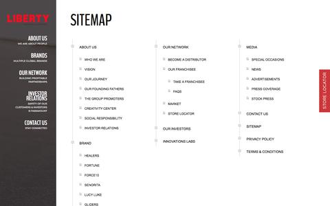 Screenshot of Site Map Page libertyshoes.com - Sitemap - libertyshoes - captured Sept. 22, 2018