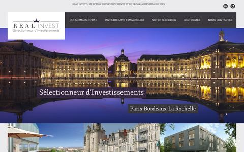Screenshot of Home Page real-invest.fr - Accueil - Real Invest - captured Oct. 7, 2014