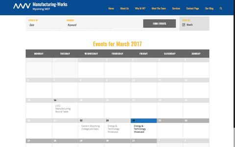 Events for March 2017 – Manufacturing-Works