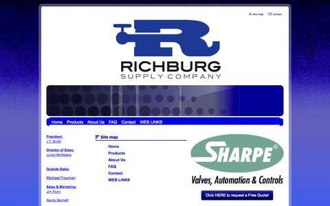Screenshot of Site Map Page richburgsupply.net - Richburg Supply Company - Site Map - captured Oct. 9, 2014