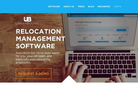 Screenshot of Home Page urbanbound.com captured Nov. 3, 2015