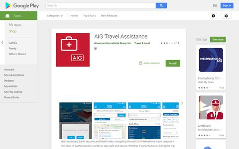 AIG Travel Assistance - Apps on Google Play