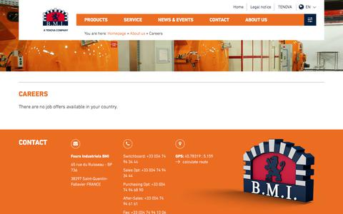 Screenshot of Jobs Page bmi-fours.com - Careers - captured Oct. 9, 2017