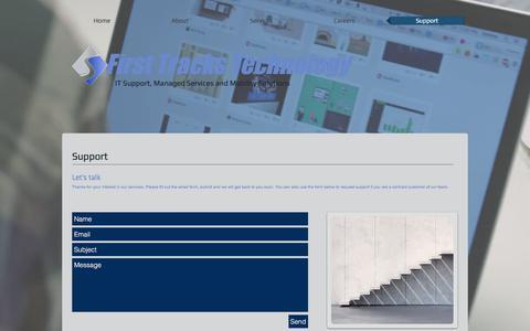 Screenshot of Support Page fttechnology.com - fttechnology   Support - captured Oct. 13, 2017