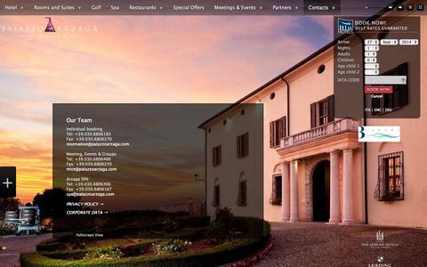 Screenshot of Team Page palazzoarzaga.com - Our Team - Palazzo Arzaga Spa Hotel and Golf Resort Garda Lake - captured Sept. 29, 2014