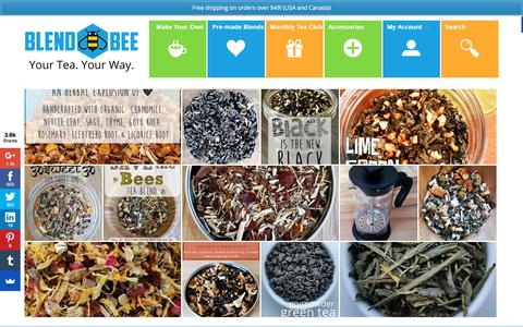 Screenshot of Home Page blendbee.com - BlendBee - Your Tea. Your Way. - captured Oct. 24, 2015