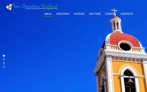 Screenshot of Home Page nicalandtour.com - Tour Operadora Nicaland - captured Jan. 22, 2016