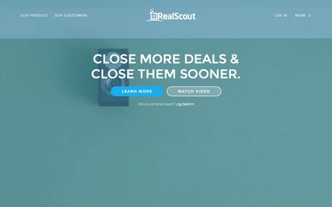 Screenshot of Home Page realscout.com - RealScout - captured Sept. 17, 2014
