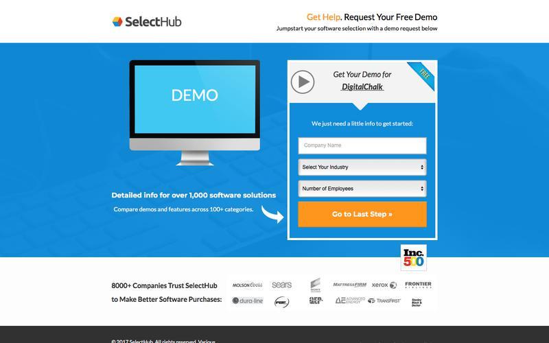 Get Demo Information for DigitalChalk