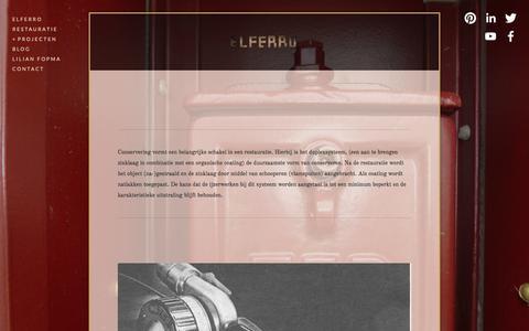 Screenshot of Menu Page elferro.nl - Coating inspectie — Lilian Fopma - captured July 17, 2015