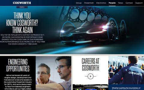Screenshot of Team Page cosworth.com - People - Cosworth - captured July 22, 2018