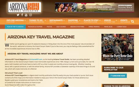 Screenshot of About Page arizonakey.com - Arizona KEY Travel Magazine: Learn What We Are About - captured July 30, 2018