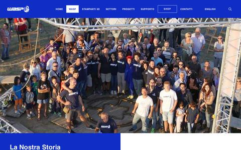 Screenshot of Jobs Page Team Page 3dwasp.com - Chi Siamo | Stampanti 3D | WASP - captured Oct. 20, 2018