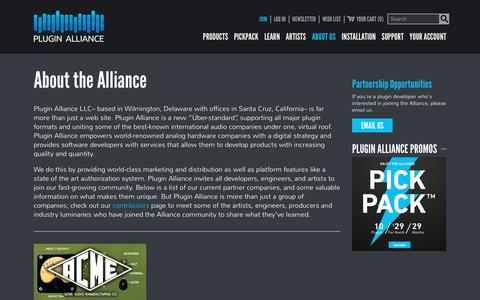 Screenshot of About Page plugin-alliance.com - About the Alliance - Plugin Alliance - captured Oct. 13, 2018