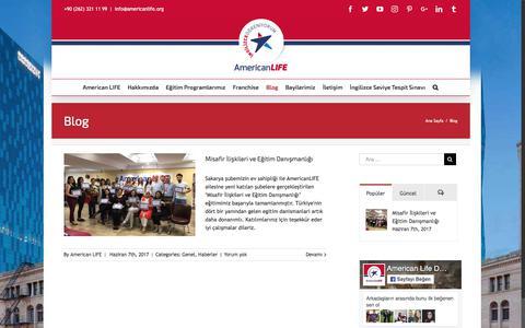 Screenshot of Blog americanlife.org - Blog - American LIFE Dil Okulları - captured June 30, 2017