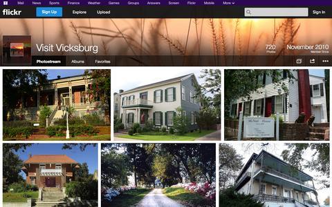 Screenshot of Flickr Page flickr.com - Flickr: Visit Vicksburg's Photostream - captured Oct. 26, 2014
