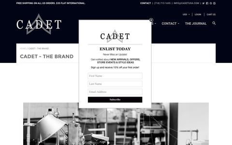 Screenshot of About Page cadetusa.com - CADET - The Brand | CADET - captured Oct. 12, 2016