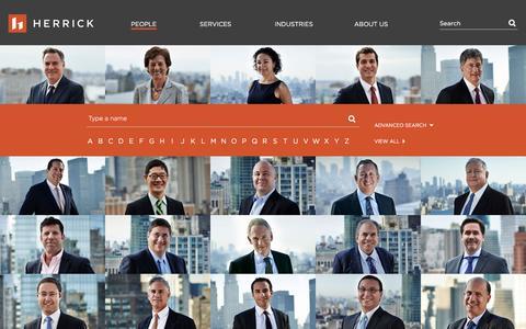 Screenshot of Team Page herrick.com - People - captured Nov. 7, 2016