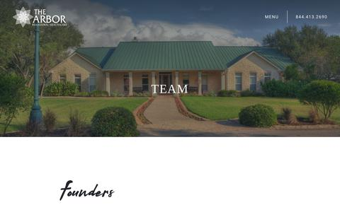 Screenshot of Team Page thearbor.com - Our Team | The Arbor Behavioral Healthcare - captured July 20, 2019