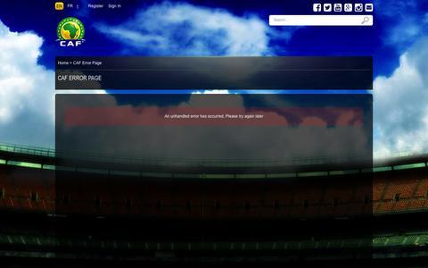 Screenshot of Press Page cafonline.com - CAF - CAF Error Page - captured Oct. 22, 2014