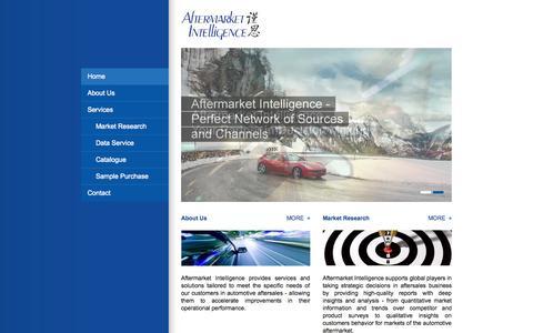 Screenshot of Home Page afmkt.com - Home - Aftermarket Intelligence - captured Oct. 4, 2014