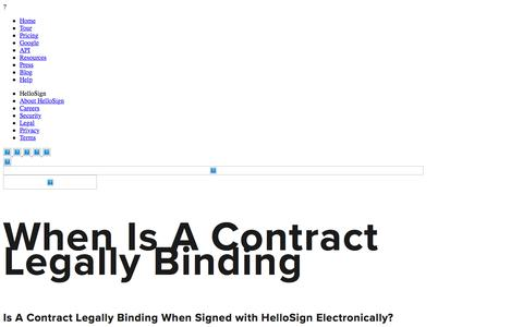 When Is A Contract Legally Binding