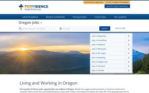Screenshot of Home Page providence-oregon.jobs - Providence Oregon Jobs - captured Feb. 2, 2018