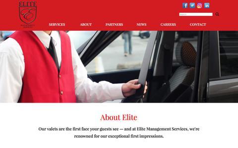 Screenshot of About Page eliteparkingservices.com - Elite Management: About Us - captured July 29, 2017