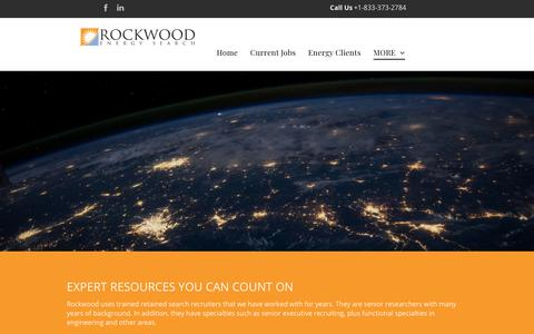 Screenshot of About Page rockwoodenergysearch.com - Energy Jobs | Renewable Energy Recruiters | Solar Jobs - captured Oct. 19, 2018