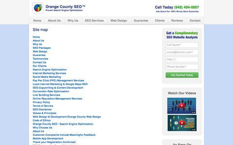 Screenshot of Site Map Page ocseo.com - Site map | OC SEO - captured Sept. 19, 2014