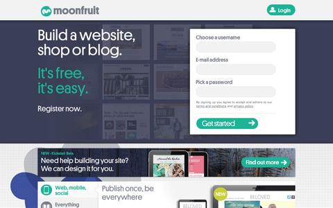 Free Website Builder | Make Your Own Website | Moonfruit
