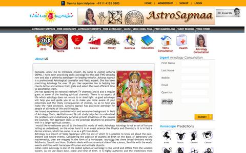 Screenshot of About Page vedicastrologysigns.com - Astrologer Delhi NCR | For best Personalised Astrology consultation by astrologer in delhi - captured Oct. 4, 2014