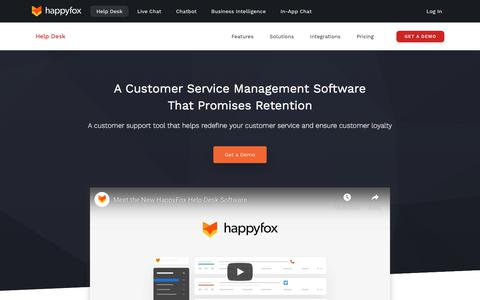 Screenshot of Support Page happyfox.com - Help Desk Software | Customer Support Software | Support Ticket System - captured Aug. 19, 2019