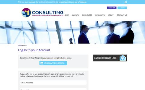 Screenshot of Login Page j1consulting.co.uk - Log In to your Account - J1 Consulting - captured Sept. 30, 2017