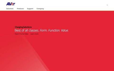 Screenshot of Home Page averusa.com - AVer USA - captured Dec. 14, 2015