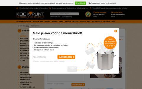 Screenshot of Contact Page kookpunt.nl - Contact | Kookpunt - captured Sept. 23, 2018