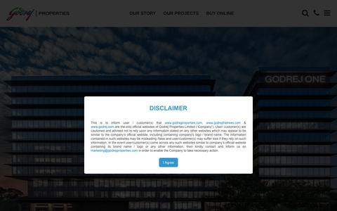 Screenshot of Site Map Page godrejproperties.com - Sitemap of Godrej Properties Limited - captured June 18, 2018