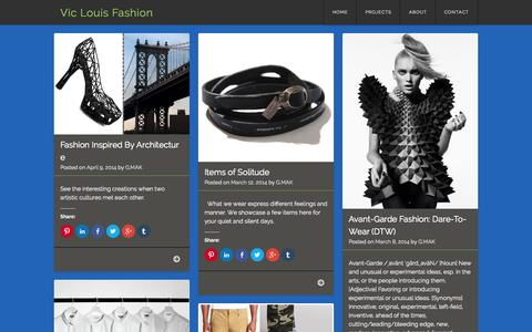 Screenshot of Home Page viclouis.com - Vic Louis Fashion - captured Aug. 13, 2015